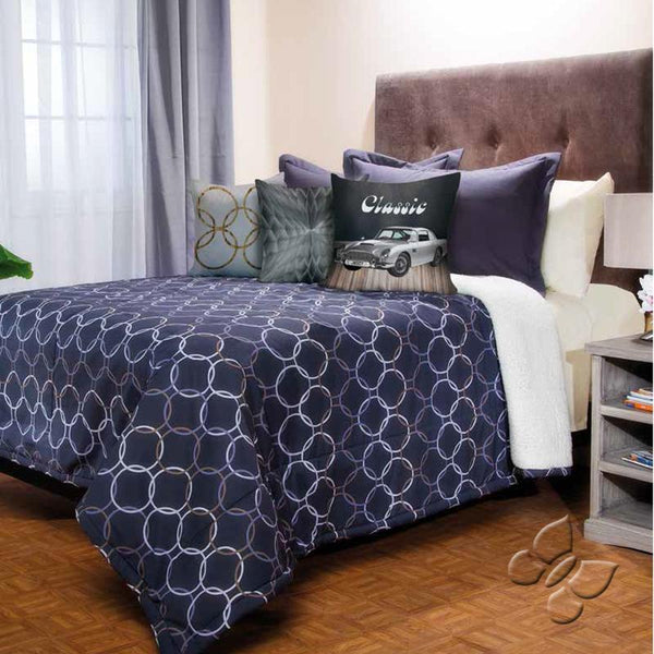 Breton Comforter With Sherpa Set (Twin Size)