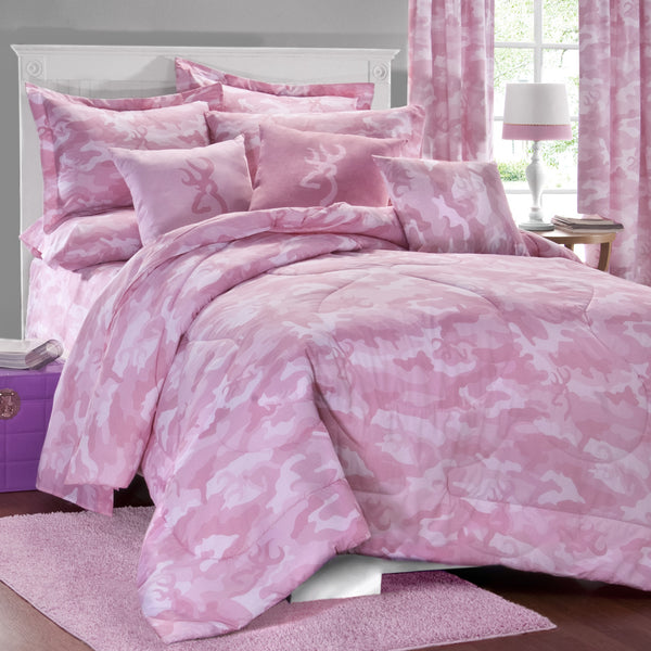 Buckmark Camo Pink Comforter Set (Queen Size) | My Bed Covers