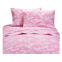 Buckmark Camo Pink Sheet Set (Twin Size) | My Bed Covers