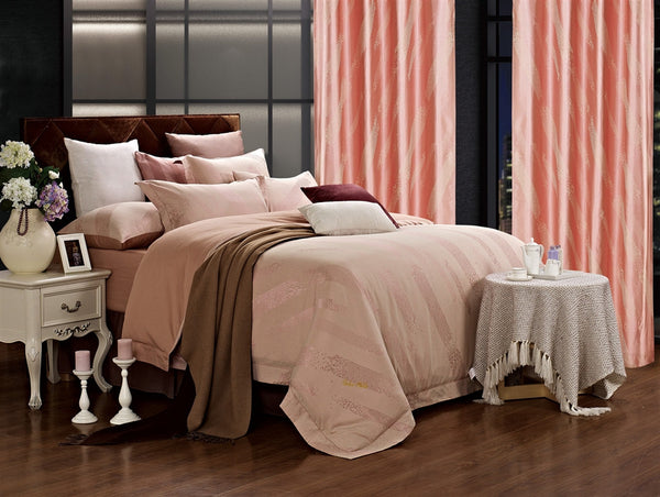 Capri Jacquard Damask Luxury 6PC Duvet Cover Set (King Size) | My Bed Covers