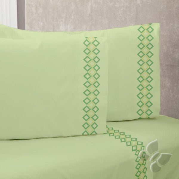 Carica Green Sheet Set (Queen Size) | My Bed Covers