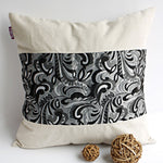 Cavaliele Linen Stylish Patch Work Pillow Cushion | My Bed Covers