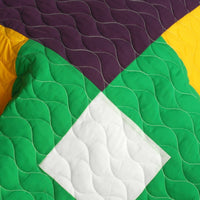 Checkers 3PC Vermicelli-Quilted Patchwork Quilt Set (Full/Queen Size) - My Bed Covers - 4