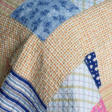 Classic Plaids Cotton 3PC Vermicelli-Quilted Printed Quilt Set (Full/Queen Size) | My Bed Covers