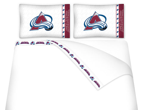 Colorado Avalanche Sheet Set - My Bed Covers