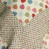 Colorful Dots Cotton 3PC Vermicelli-Quilted Dots Printed Quilt Set (Full/Queen Size) | My Bed Covers
