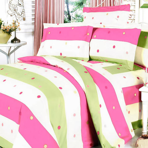 Colorful Life 100% Cotton 3PC Mini Duvet Cover Set (Queen Size) - My Bed Covers