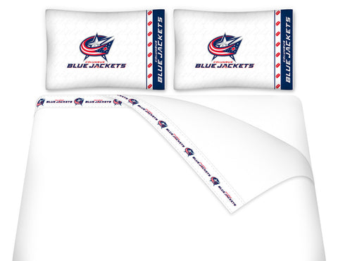 Columbus Blue Jackets Sheet Set - My Bed Covers - 1