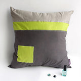 Cool Style Knitted Fabric Patch Work Pillow Cushion | My Bed Covers