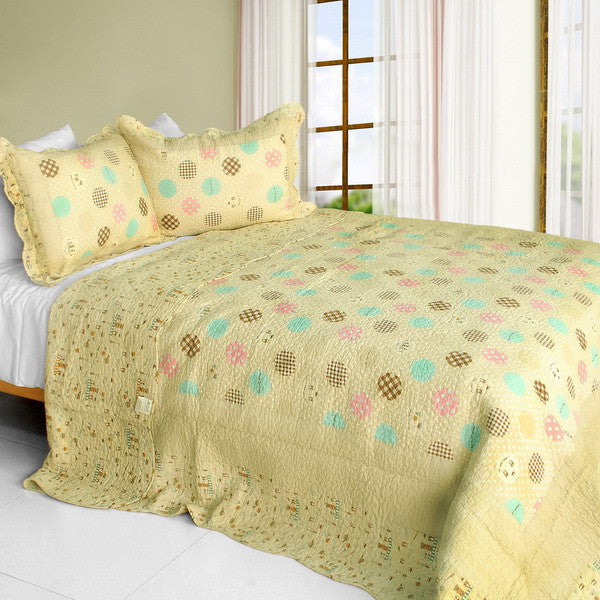 Corda 3PC Cotton Vermicelli-Quilted Printed Quilt Set (Full/Queen Size) | My Bed Covers