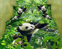 Cute Panda 4PC Duvet Cover Set (Twin Size) | My Bed Covers
