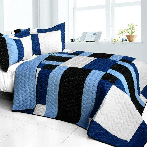 Deep Thought Brand New Vermicelli-Quilted Patchwork Quilt Set (Full/Queen Size) - My Bed Covers - 1