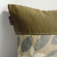 Deep Woods Linen Stylish Patch Work Pillow Cushion | My Bed Covers
