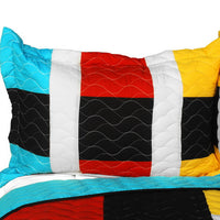 Designer - 1 Brand New Vermicelli-Quilted Patchwork Quilt Set (Full/Queen Size) - My Bed Covers - 2