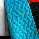 Designer - 1 Brand New Vermicelli-Quilted Patchwork Quilt Set (Full/Queen Size) - My Bed Covers - 3