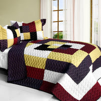 Dreams Of Love 3PC Vermicelli - Quilted Patchwork Quilt Set (Full/Queen Size) - My Bed Covers - 1
