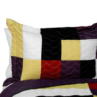 Dreams Of Love 3PC Vermicelli - Quilted Patchwork Quilt Set (Full/Queen Size) - My Bed Covers - 2