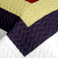Dreams Of Love 3PC Vermicelli - Quilted Patchwork Quilt Set (Full/Queen Size) - My Bed Covers - 4