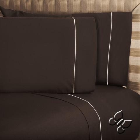 Elegance Brown Sheet Set (Queen Size)
