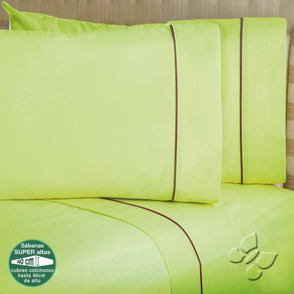 Elegance Green Sheet Set (Queen Size)
