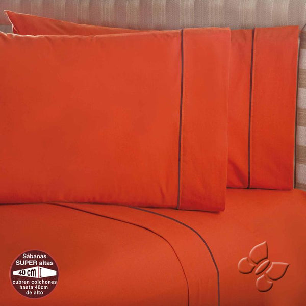 Elegance Orange 2 Sheet Set (Queen Size)