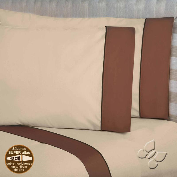 Elegance Orange Sheet Set (Queen Size)