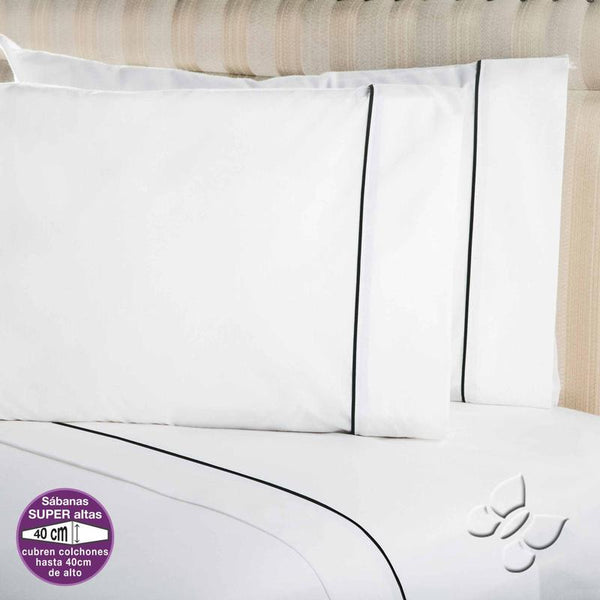 Elegance White Sheet Set (Queen Size) | My Bed Covers