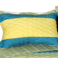 Endless Horizon 3PC Vermicelli-Quilted Patchwork Quilt Set (Full/Queen Size) - My Bed Covers - 2