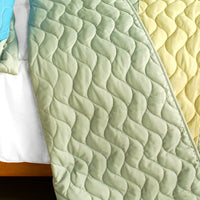 Endless Horizon 3PC Vermicelli-Quilted Patchwork Quilt Set (Full/Queen Size) - My Bed Covers - 3