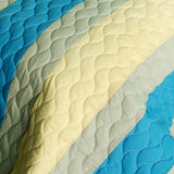 Endless Horizon 3PC Vermicelli-Quilted Patchwork Quilt Set (Full/Queen Size) - My Bed Covers - 4