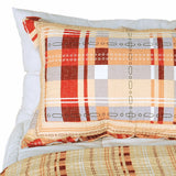 Enthusiasm Waltz Cotton 3PC Vermicelli-Quilted Plaid Printed Quilt Set (Full/Queen Size) | My Bed Covers