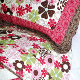 Eranthe Cotton 3PC Floral Vermicelli-Quilted Printed Quilt Set (Full/Queen Size) - My Bed Covers - 2