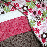 Eranthe Cotton 3PC Floral Vermicelli-Quilted Printed Quilt Set (Full/Queen Size) - My Bed Covers - 3