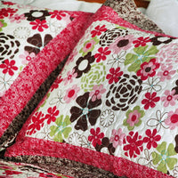 Eranthe Cotton 3PC Floral Vermicelli-Quilted Printed Quilt Set (Full/Queen Size) - My Bed Covers - 4
