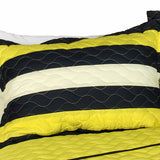 Eyes Of Truth 3PC Vermicelli-Quilted Patchwork Quilt Set (Full/Queen Size) - My Bed Covers - 2