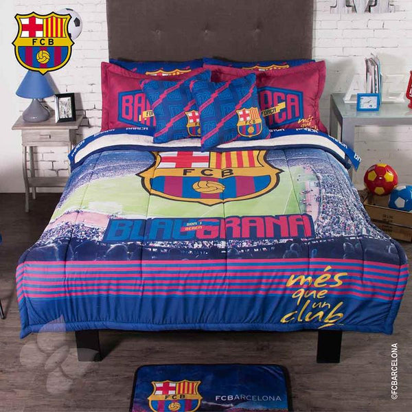 FCBarcelona Comforter Set With Sherpa | My Bed Covers