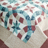 Falling Snow 3PC Cotton Vermicelli-Quilted Printed Quilt Set (Full/Queen Size) - My Bed Covers - 4