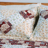 Fantasy Flowers Cotton 2PC Floral Vermicelli-Quilted Patchwork Quilt Set (Twin Size) - My Bed Covers - 3