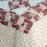 Fantasy Flowers Cotton 2PC Floral Vermicelli-Quilted Patchwork Quilt Set (Twin Size) - My Bed Covers - 4