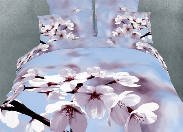 Fiori Di Mandorla 6PC Duvet Cover Set (King Size) | My Bed Covers