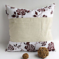 Floral Ocean Linen Stylish Patch Work Pillow Cushion | My Bed Covers