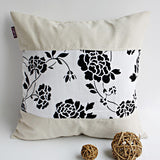 Floral Wedding Linen Patch Work Pillow Cushion | My Bed Covers