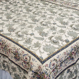Florence 100% Cotton 3PC Classic Floral Vermicelli-Quilted Quilt Set (King Size) - My Bed Covers - 2