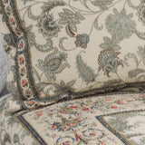 Florence 100% Cotton 3PC Classic Floral Vermicelli-Quilted Quilt Set (King Size) - My Bed Covers - 4