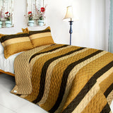 Flying In The Wind 3PC Vermicelli-Quilted Patchwork Quilt Set (Full/Queen Size) - My Bed Covers - 1