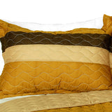 Flying In The Wind 3PC Vermicelli-Quilted Patchwork Quilt Set (Full/Queen Size) - My Bed Covers - 2