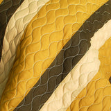 Flying In The Wind 3PC Vermicelli-Quilted Patchwork Quilt Set (Full/Queen Size) - My Bed Covers - 4