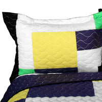 Football Field 3PC Vermicelli - Quilted Patchwork Quilt Set (Full/Queen Size) - My Bed Covers - 2
