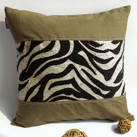 Forest Treasure Linen Patch Work Pillow Cushion - My Bed Covers - 1