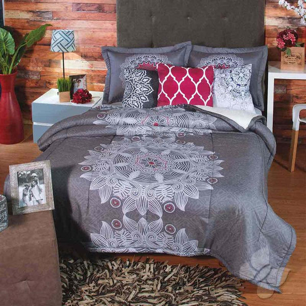 Frank Comforter With Sherpa Set (Twin Size)